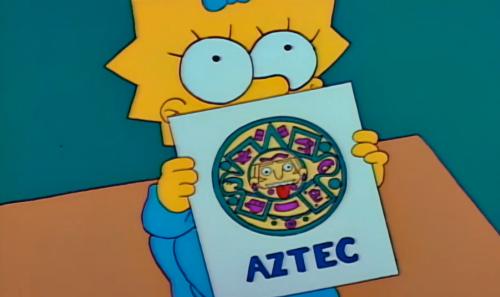 Simpsons-MaggieWithAztecFlashcard